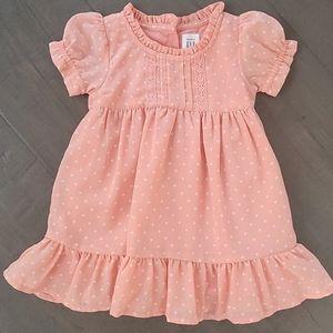 NWY GAP Baby Girl Pink Polka Dot Dress 6-12m.